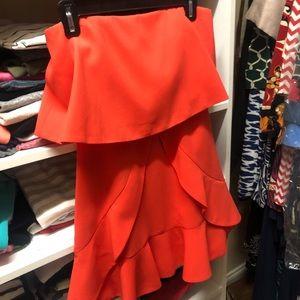 BCBG Red Cocktail Dress. Size 0.